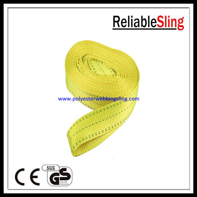 One Time PES Endless Webbing Sling for lifting steel pipe with GS , CE Certificate