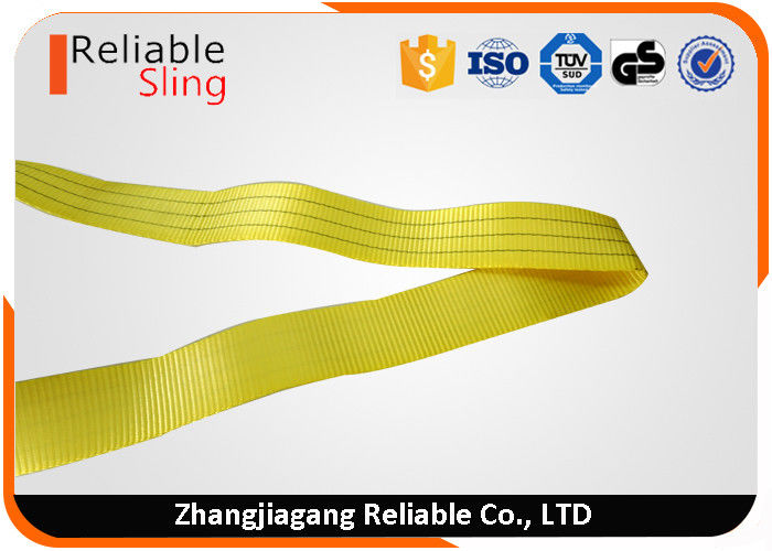 One Way Round 3 Ton Polyester Flat Woven Endless Lifting Slings / Webbing Sling