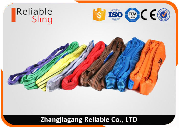Low Stretch Durable Polyester Round Slings Endless High Strength Soft Pipe Lifting Sling