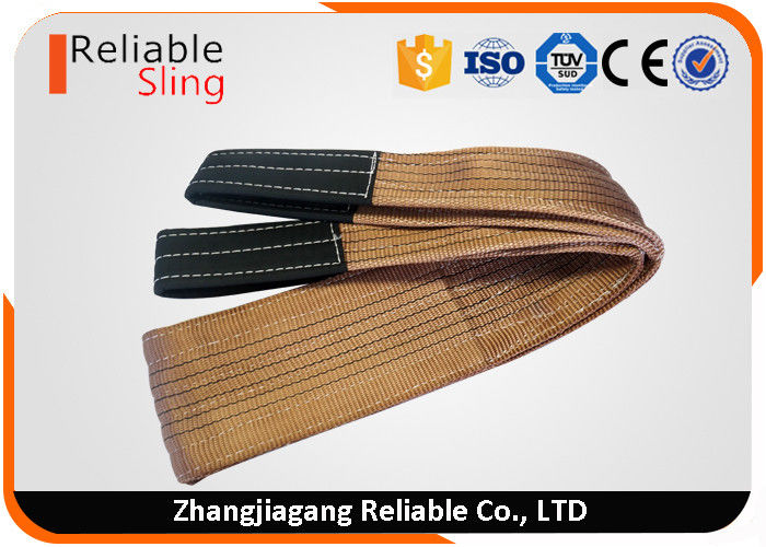 Double Ply Polyester Woven Flat Webbing Sling Color Webbing Belt For Lifting Loads