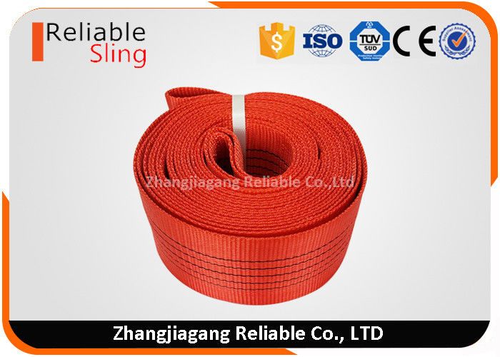 Customized 5T Red Simplex Bulk Polyester Webbing 150mm Width Low Elongation